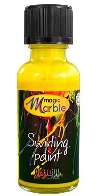 Citron Yellow Swirling Paint: One 1 oz. bottle of citron yellow marbleizing paint