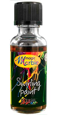 Colorless Swirling Paint: One 1 oz. bottle of colorless marbleizing paint used for one color marbling effect.