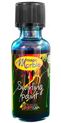 Dark Blue Swirling Paint: One 1 oz. bottle of dark blue marbleizing paint