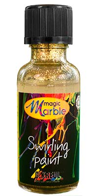 Glitter Gold Swirling Paint: One 1 oz. bottle of glitter gold marbleizing paint
