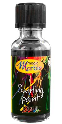 Black Swirling Paint: One 1 oz. bottle of black marblizing paint