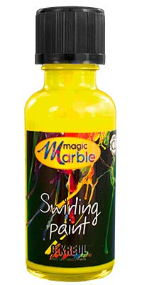 Neon Yellow Swirling Paint: Neon Yellow Marbling Paint: 1oz bottle